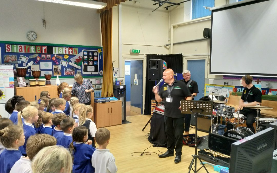 Make Some Noise visits Ysgol Pant Pastynog
